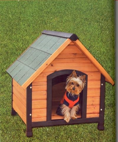 Casa para perro en madera con tela asf ltica en el techo Casas para perros de madera