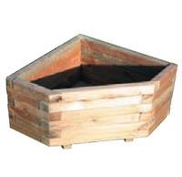 Maceta rinconera de madera para esquinas de casa o jardin - Maceteros madera exterior ...