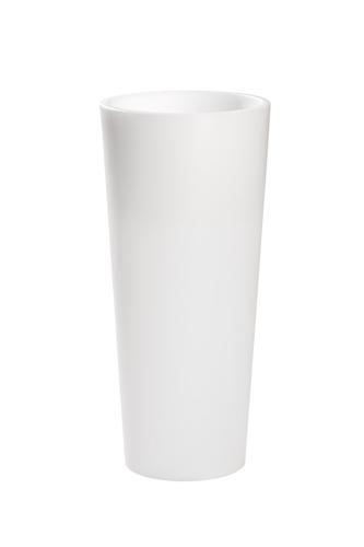 Macetero c nico alto blanco iluminado - Maceteros de resina ...