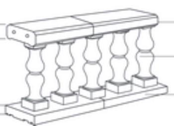 Balaustres de hormig n prefabricado para muros - Balaustres de piedra ...