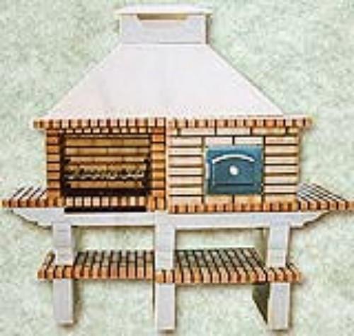 Barbacoa con horno para exterior de ladrillo refractario - Barbacoas y hornos de lena ...