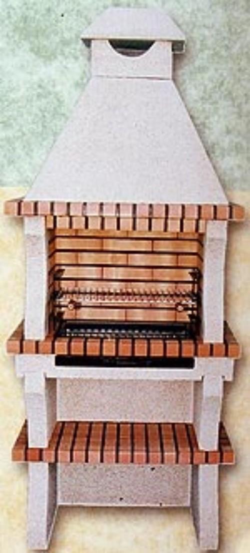 Barbacoas de ladrillo refractario y cemento con repisa inferior - Barbacoa de ladrillo ...