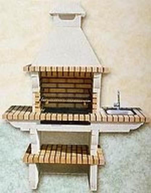 Barbacoa prefabricada de ladrillo refractario y cemento - Ladrillos para barbacoa ...