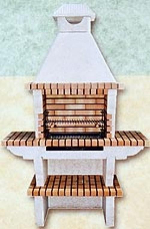 Barbacoas de ladrillo refractario y cemento con alas for Construccion de chimeneas de ladrillo