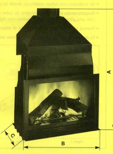 Insertables para chimeneas de le a met licas for Chimeneas metalicas precios