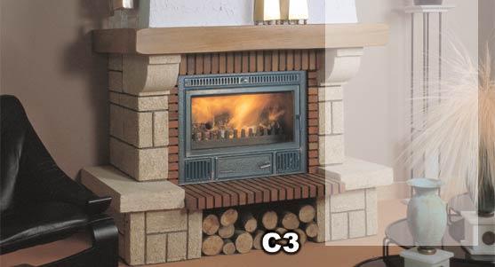 Hogar compacto para insertar en chimenea - Chimeneas de hierro fundido ...