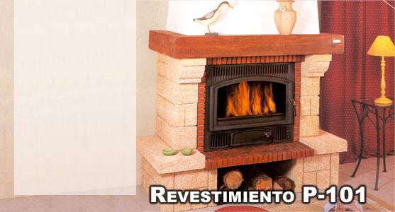 Revestimiento modelo p 101 490101901 for Revestimiento para chimeneas insertables