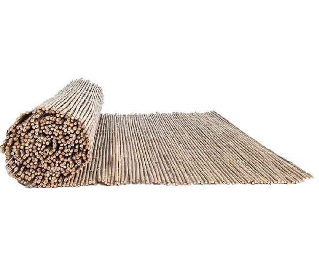 Cercado de bamb entero y alambre galvanizado enrollado faura - Canizo de bambu ...