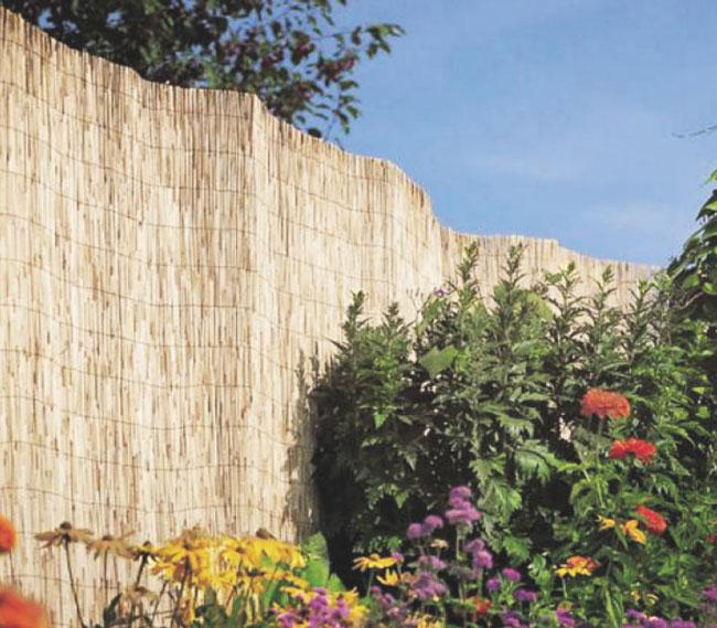 Valla de bamb asiatico enrollado faura - Canizo de bambu ...