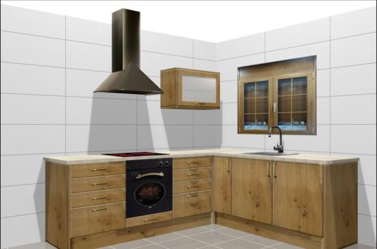 Cocina 7 rustica para peque o apartamento for Muebles de cocina para apartamentos pequenos