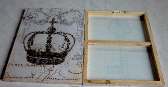 Corona dibujada sobre lienzo para colocar en bastidor for Cuadros en bastidor
