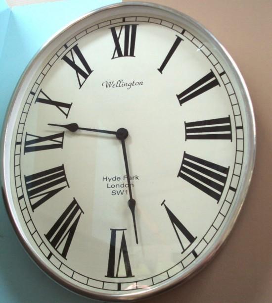 Reloj ovalado para decoraci n de pared con n meros romanos - Reloj grande de pared ...