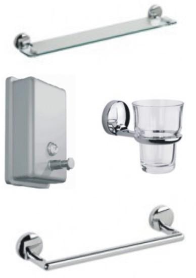 Set de accesorios cromados para aseos for Accesorios para bano cromados