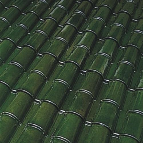 teja ref tejas borja curva esmaltada verde 25x12 a 1 cara
