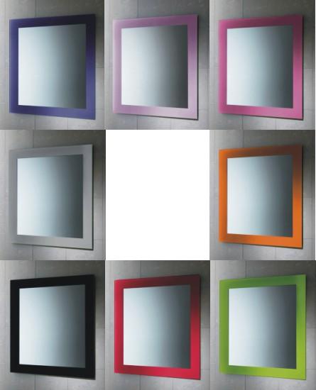 Espejos con marco de color for Espejos con marco color plata