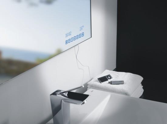 Espejos multimedia para ba o de roca for Espejos con luz integrada