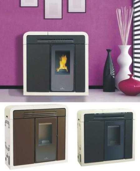 Casas cocinas mueble estufas de pellets instalacion for Estufas biomasa precios