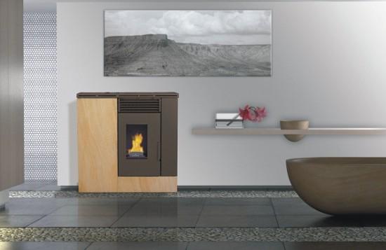Estufas de biomasa estrechas para pasillos - Estufas de pellets canalizables precios ...