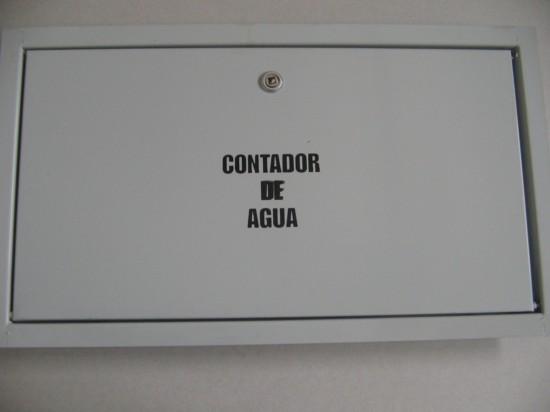 Puertas met licas para cajas de contador for Caja contador agua