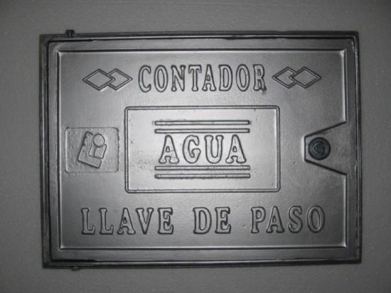 Tapa de aluminio para contador de agua con cierre y llave for Accesorios para llaves de agua