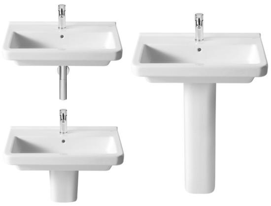 Lavabos para pedestal o semipedestal de roca for Modelos de lavabos roca