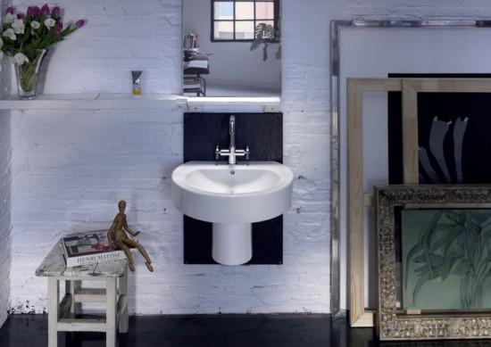 Lavabos compactos de roca for Modelos de lavabos roca