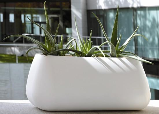 Jardineras de resina blancas para interior y exterior - Jardineras para interiores ...