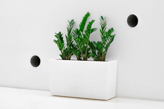 Jardineras blancas marrones o grises de dise o moderno - Jardineras de colores ...