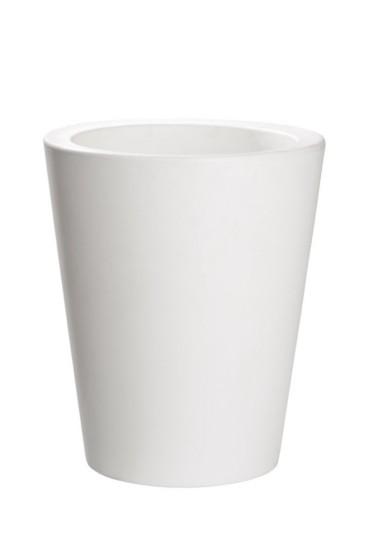 Maceteros c nicos con luz en resina de color blanco for Macetas pequenas