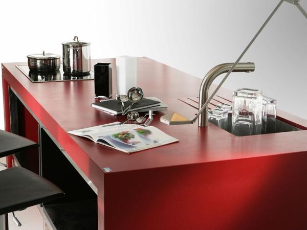 Cuarzo rojo eros silestone 430700910 for Silestone colores