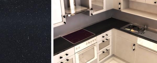 Cuarzo negro magma silestone 430700944 for Silestone o marmol para cocina