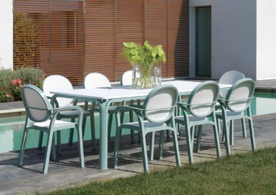 Conjuntos De Terraza Mesa Lauro Y 8 Sillas Gemma Nardi Garden