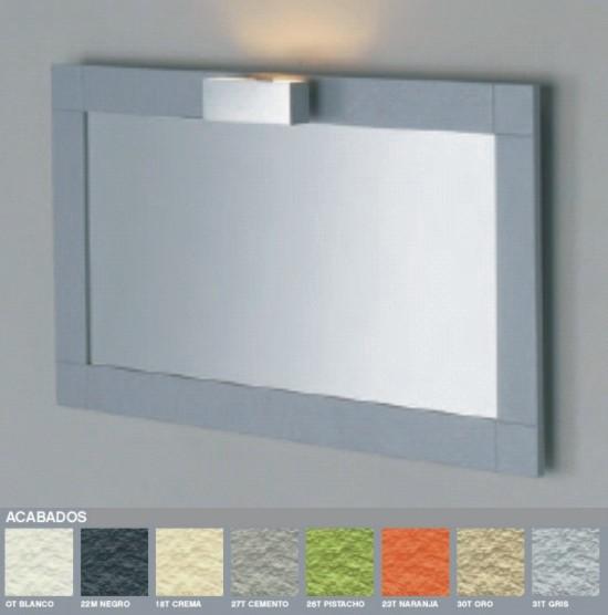Espejo con marco de pizarra para ba os for Precio de espejos con marco