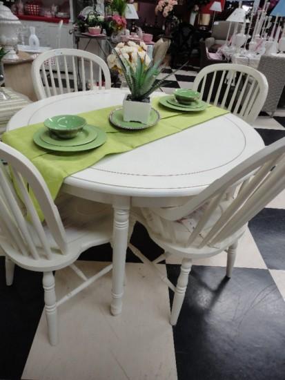 Mesas extensibles de comedor for Mesa de comedor redonda extensible blanca