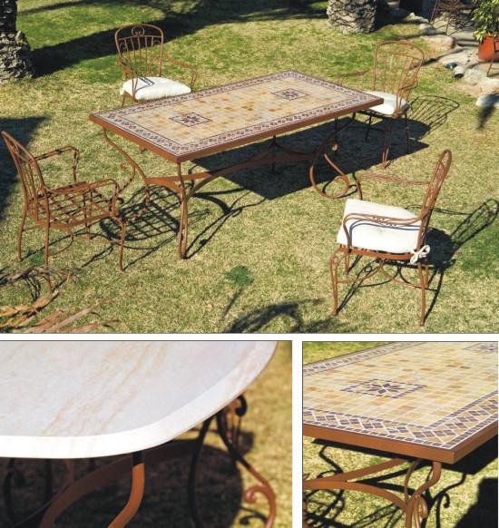 Muebles de forja para exterior colecci n marbella - Muebles de jardin de forja ...