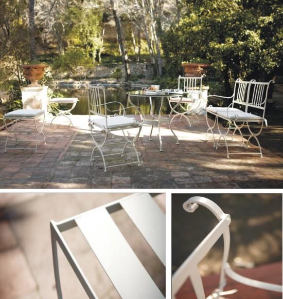 Muebles de forja para jard n y terraza de estilo cl sico y for Muebles jardin madrid