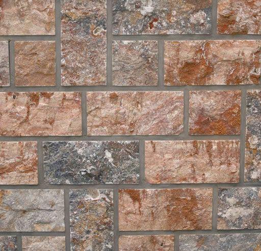 Piedra plaqueta tarvertino rojo hueso 030302011 - Pavimentos de piedra natural ...