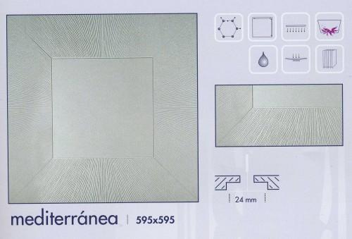 Placa con dibujo modelo mediterraneo - Placas de techo desmontable ...