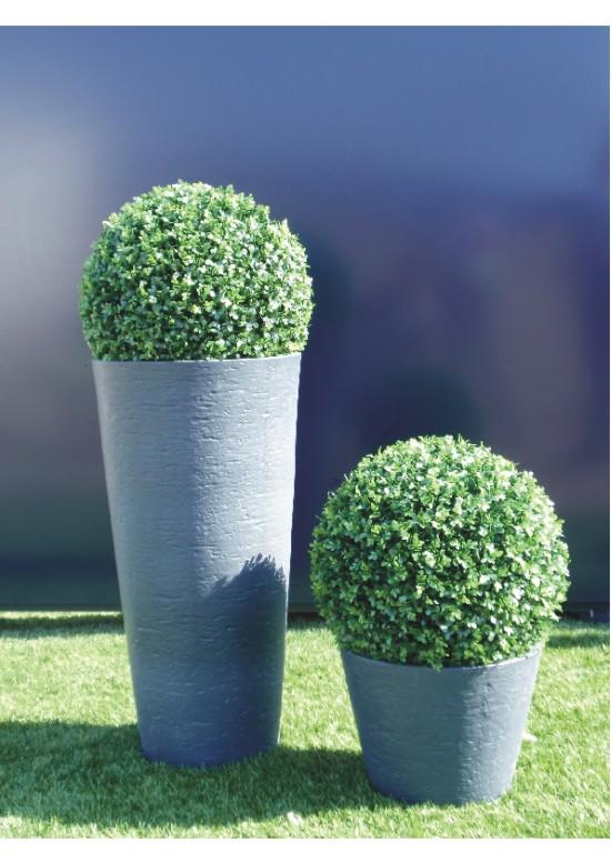 Arbusto artificial redondo de geranio interdima for Estanques artificiales o prefabricados