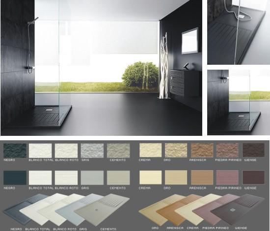 Baños Con Plato De Ducha Silex:Platos de ducha de colores para baños de diseño a precios