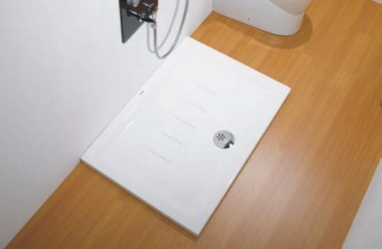 Platos de ducha de porcelana blanca for Accesorios plato ducha