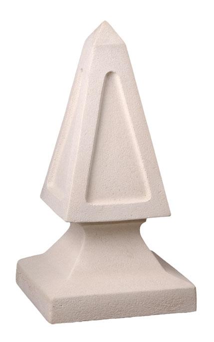 Obelisco ornamental blanco de hormig n prefabricado - Hormigon prefabricado precio ...
