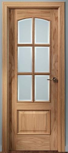 Puerta de interior 22 6vm 119000088 for Puertas madera y cristal interior