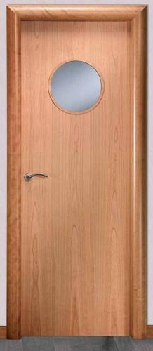 Puerta de interior l ojo de buey 119000052 for Precio de puertas vaiven de madera