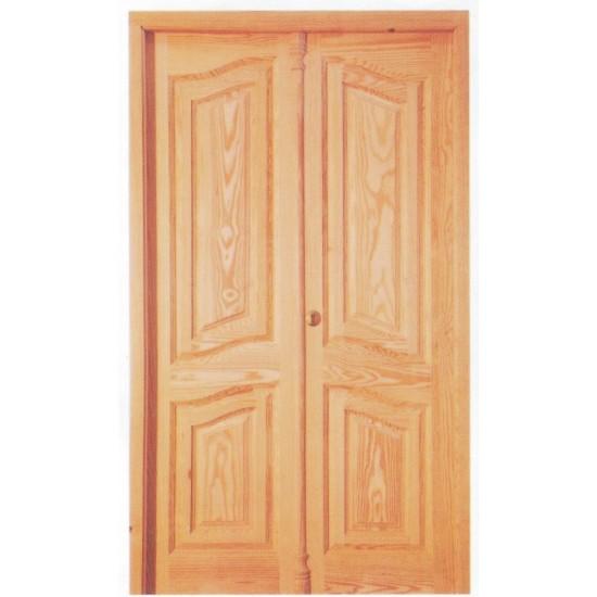 Puertas cl sicas dobles de entrada for Puertas dobles de madera
