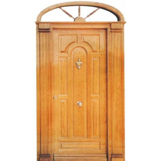 Puertas de madera con columnas - Puerta rustica exterior ...