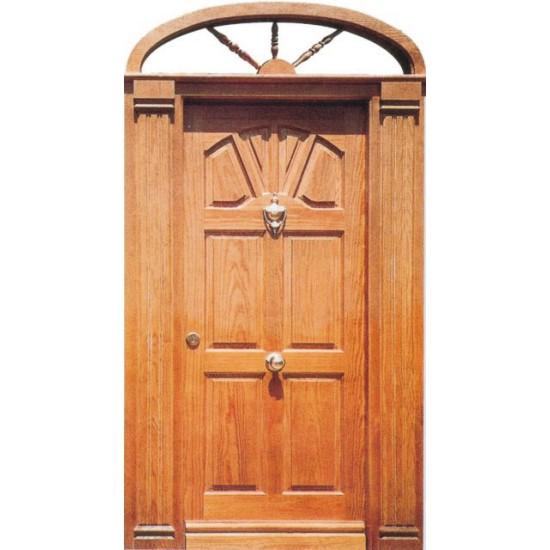 Puertas de madera con arco y columnas for Arcos de madera para puertas