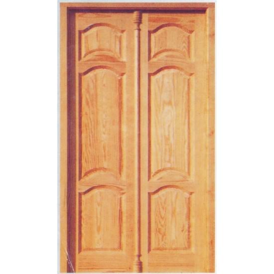 Puertas exteriores dobles de pino for Puertas dobles para exterior
