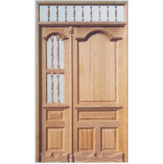 Puertas de entrada con cancela de madera for Puertas de entrada de madera precios