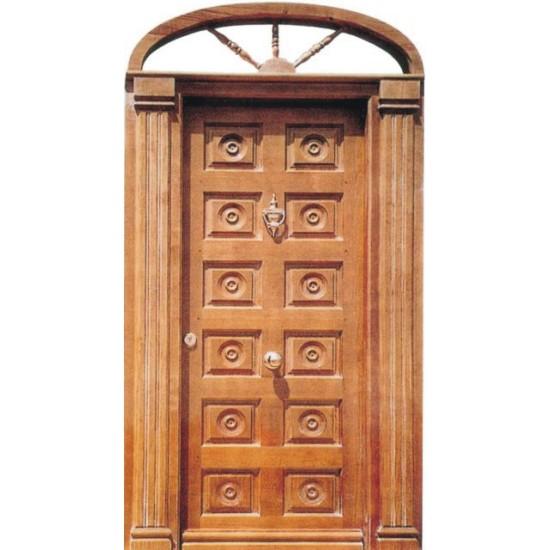 Puertas de entrada con columnas y arco for Modelos de puertas de ingreso